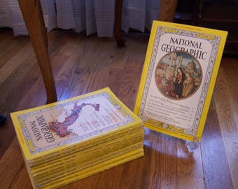 1961 National Geographic Magazines Full Set of 12 Months