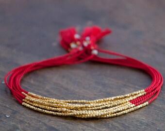 Delicate Silk Bracelet, minimalistic bracelet, dainty wish bracelet, friendship bracelet.