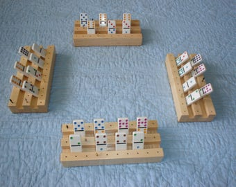 Domino Holder with Scorekeeper Combination - Set of Four