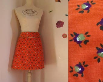 CORDUROY SKIRT TRAPEZE orange custom