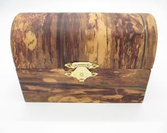 Rustic Wooden Trinket Box - Small Keepsake Box - Wood Jewelry Box