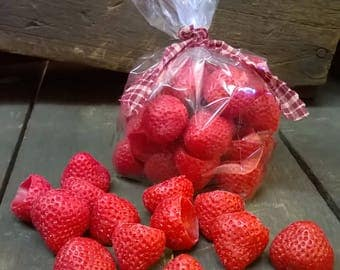 Strawberry Tarts/Ornies - Wax Melts - Tarts - Strawberry Patch Scented - Handmade - (30) per bag - Only 7.99
