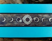 5 Solar Eclipse Cards on Red or Turquoise