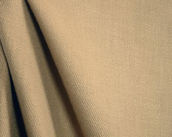Gold Tan Textured Drapery Fabric