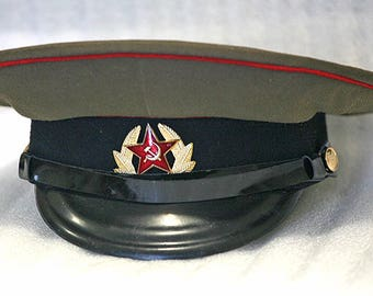 Soldier of the Russian Army Uniform Cap Hat - 1975th - Army and Navy - from Russia / Soviet Union / USSR