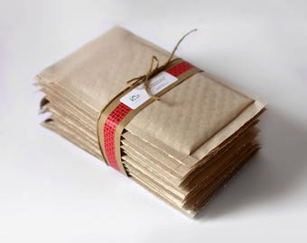 Brown Kraft Bubble Mailers- 8.5 x 11 in-  Set of 50  ||Shipping Envelopes, Padded Mailer, Brown Envelope,  Bubble Wrap, Self Sealing