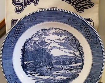 Currier & Ives Royal China Serving/Chop Plate