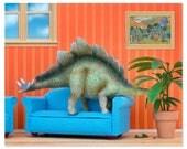Stegosaurus dinosaur decor art print: Plant Eater