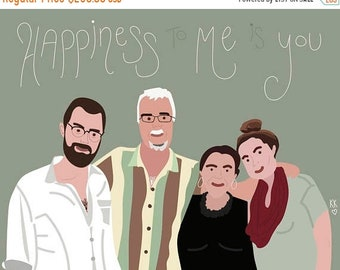 ON SALE Family portrait-designs by Katy