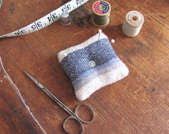 Pincushion, Needle Cushion, Pin Needle Keeper, Square Hand Woven Pin Pillow Needle Holder Needlework Sewing Embroidery Quilting Notions Gift