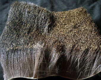 """Mule Deer Hide -  6 1/2"""" x 6 3/4"""", Professionally Tanned, Real Fur, Fly Tying and Crafts - odocoileus hemionus MDF20601"""