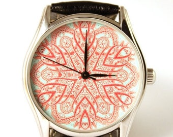 ON SALE 25% OFF Watch, Ladies Watch, Unisex Watch, Vintage Inspired, Men's Watch, Gift Idea, Turquoise watch