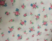 Fabric, Brushed Nylon, Tricot, Sewing, Material, White, Pink,Blue