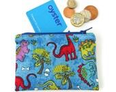 Dino coin purse (blue)