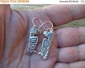 ON SALE Eagle earrings in sterling silver
