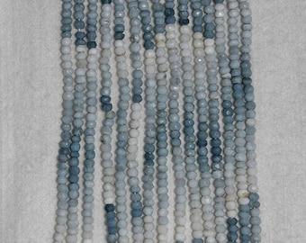 Opal, Angelite Opal, Faceted Angelite, Blue Angelite Opal, Opal Rondelle, Semi Precious, Gemstone Bead, Full Strand, 4mm, AdrianasBeads