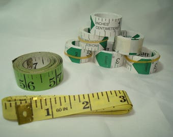 Group Of Tape Measures for Sewing.