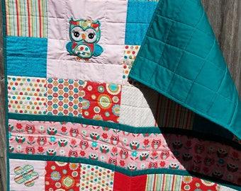 Baby owl - quilt