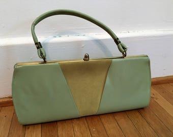 Vintage 1960s Green Clutch Purse