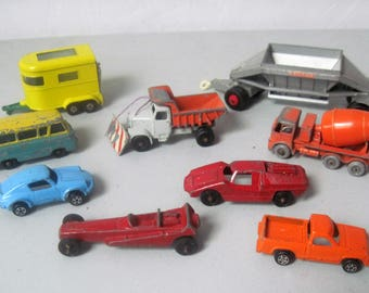 Lot vintage Lesney cars and Trucks