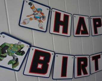Transformers Rescue Bots Birthday Banner - MADE TO ORDER