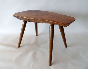 Nakashima Auböck Eames Perriand Era Style Small Organic Sculptural Table