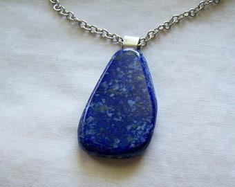 Natural Polished Blue Lapis Lazuli Gemstone Pendant