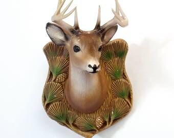 Vintage Miniature Mounted Buck Deer Head