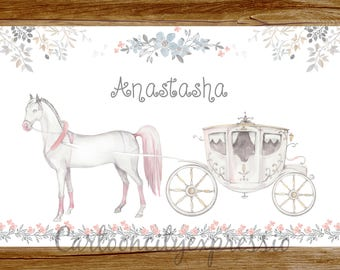 Personalized Horse and Carriage