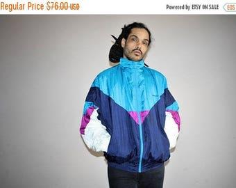 On SALE 35% Off - 1990s Vintage Designer Pierre Cardin Hip Hop Colorblock Windbreaker - 90s Clothing - MV0406