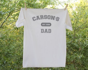 Dad Shirt // Father's Day T shirt// Established and Personalized // Proud Father// Personalized Name and Established date