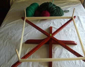 PLUS Yarn Swift, Padauk, W/Bag, SUMMER SALE Ship Only 7, Mama Bear(tm) Handcrafted Yarn Swift(tm), Free Pegs, You Will Love Using It