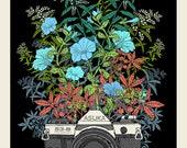 Floral Camera screen print