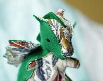 Flyt the Dragon, soft felt toy