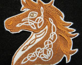 Embroidered Celtic Horse Iron On Patch, Horse, Horse Patch, Celtic Horse, Horse Applique, Iron On Patch
