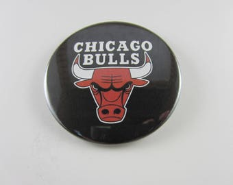 Chicago Bulls Pin Back Buttons, Chicago Bulls, Pin Back Buttons, Chicago Mirror, Chicago Magnet, Sports Pins, Chicago