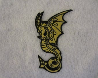 Embroidered Fantasy Dragon Iron On Patch, Iron On Patch, Dragon Patch, Fantasy Dragon Patch, Iron On Applique, Winged Dragon
