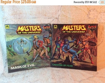 SUMMER SALE 1984 MOTU Masters of the Universe Books Mattel Mask of Evil Caverns of Fear