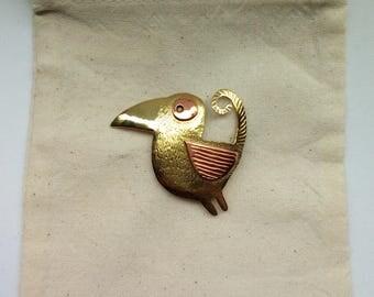 bird brooch,