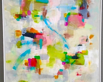 Abstract Expressionist  Painting - Palm Canyon Drive 36 x 48