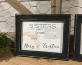 Best Friends Sign - Sister Gift - Personalized Friend Gift - Stocking Stuffer - Long Distance Sign - Friends Forever Gift - Friendship Gift