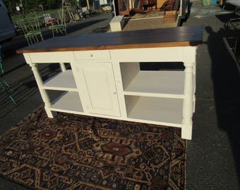 """cottage style rustic kitchen island or sideboard.. 72"""" across, 24"""" deep, 36"""" tall..extra charge for delivery"""