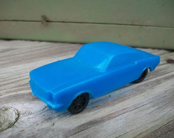 Vintage Plastic Blue Mustang Fast Back by Gay Toys