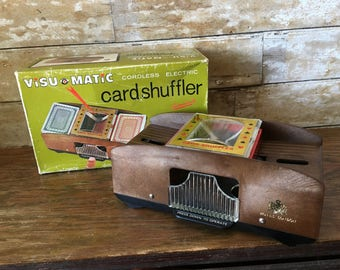 Vintage Card Shuffler Metal 1950's or 60's