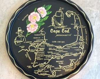 Vintage Massachusetts State Souvenirs Tray