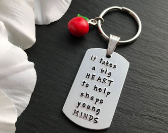 Personalised Teacher Gift - Teacher Keyring - Teacher Gift - Gift for Teacher - End of year gift - Teacher Present
