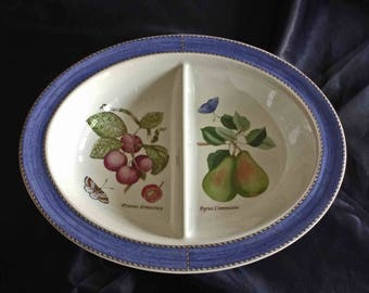 Wedgwood Oval Divided Vegetable Bowl, Sarah's Garden, MINT Condition, Wedgwood Sarah's Garden, Wedgwood Serving Dish