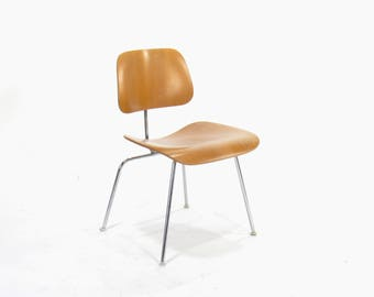 Eames for Herman Miller Molded Plywood Side Chair-DCM