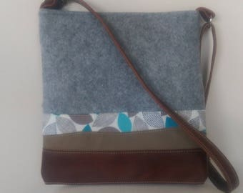 FELT, Leaves and Leather Tote