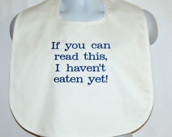 Custom Funny Adult Bib, Messy Eater, Boss Gift, Clothing Cover Up Protector, Personalized With Name, No Shipping Fee,  Ships TODAY 1061